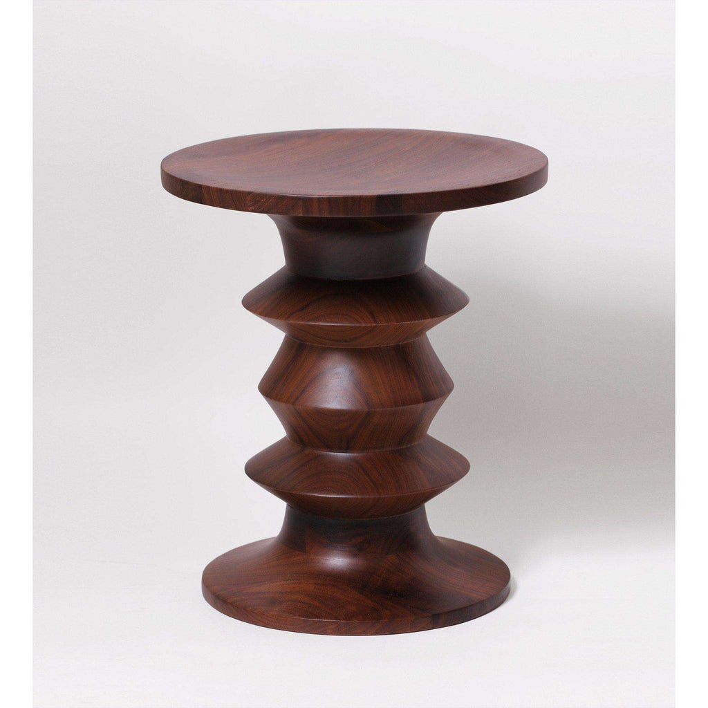 Mid Century Modern Reproduction Time Life Stool A Walnut