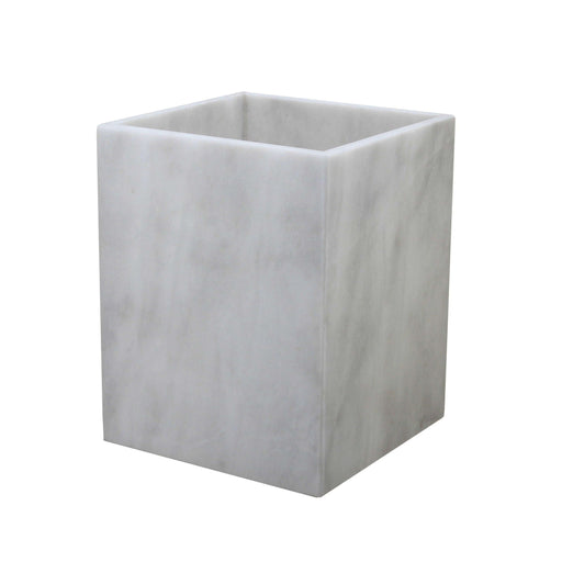 Myrtus Collection Pearl White Marble Waste Bin