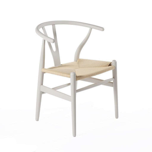 Mid-Century Modern Reproduction CH24 Wishbone Y Chair - Warm Grey Inspired by Hans Wegner