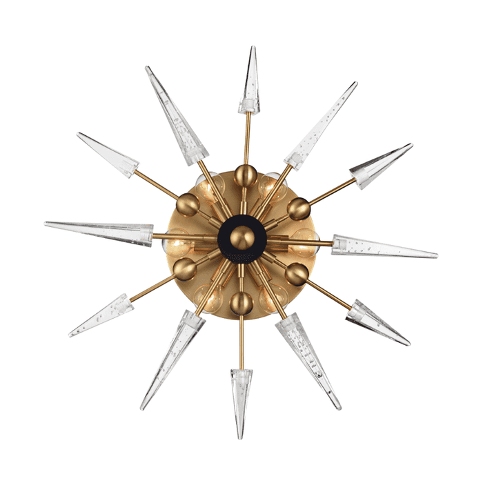 Sparta 6 Light Wall Sconce Aged Brass