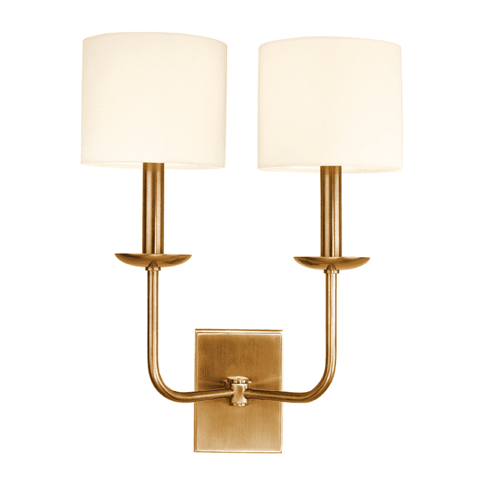 Kings Point 2 Light Wall Sconce Aged Brass