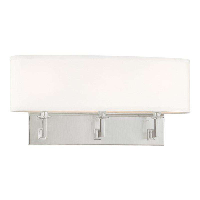 Grayson 3 Light Wall Sconce Satin Nickel