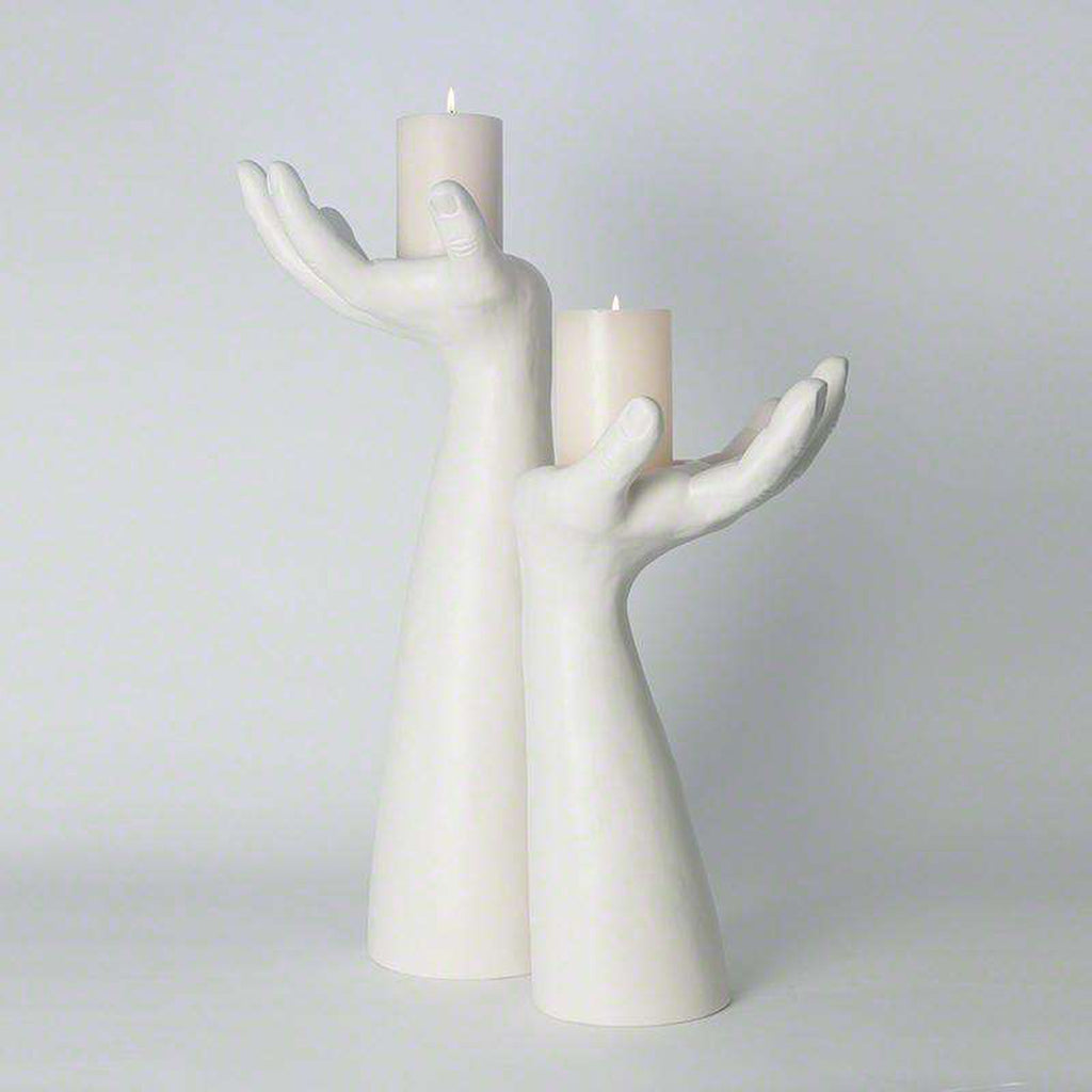 Palma Candleholder - Right - Matte White