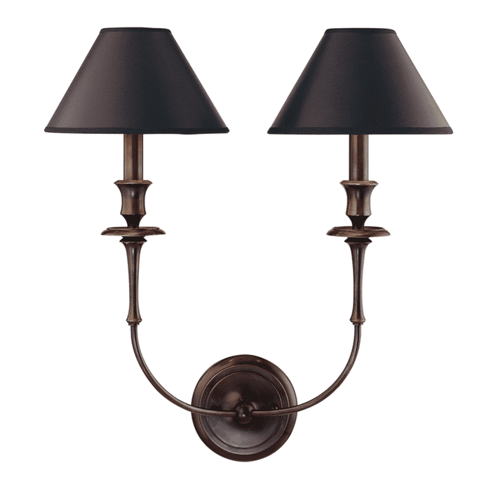 Jasper 2 Light Wall Sconce Old Bronze