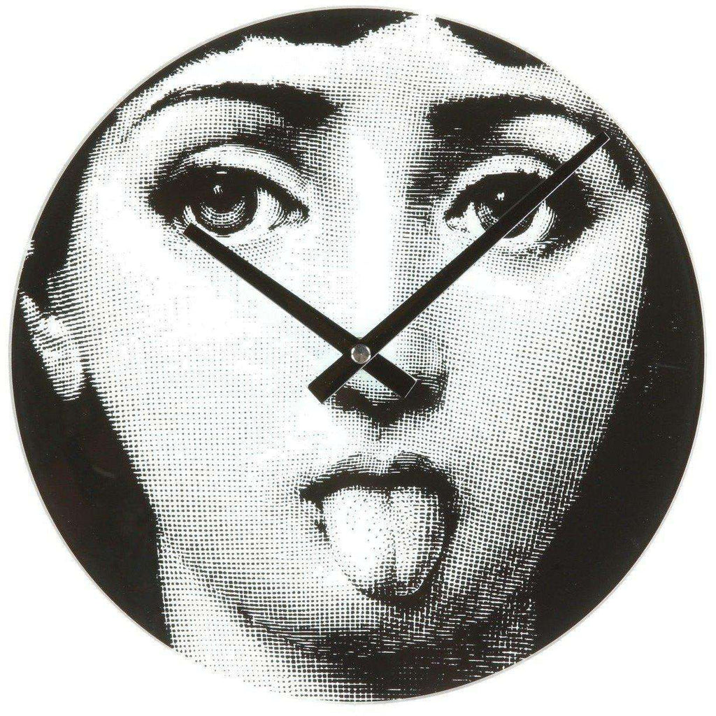 Mid-Century Modern Reproduction Girl Clock -Tongue Inspired by Piero Fornasetti