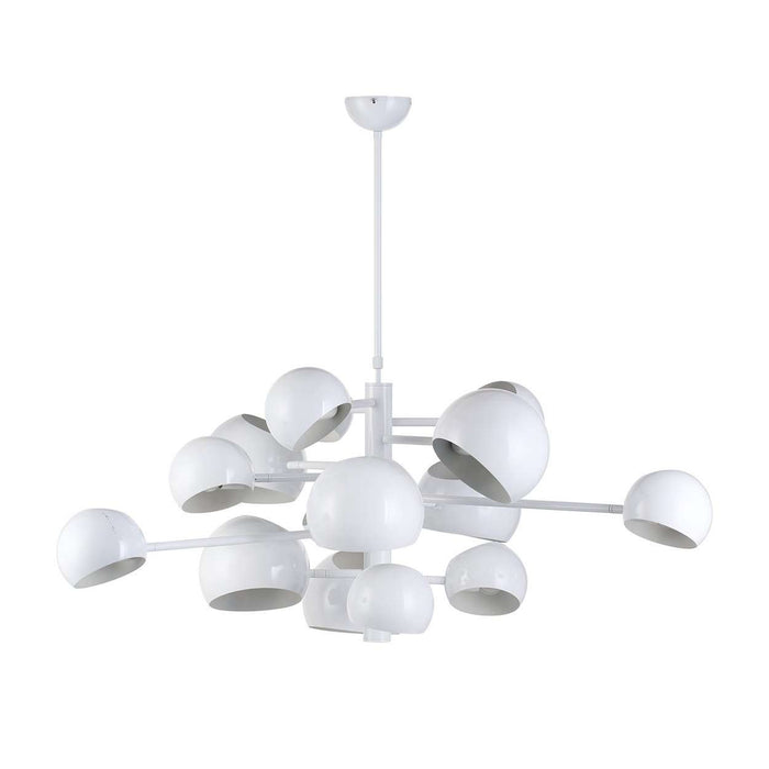 Kopra Burst Chandelier - White
