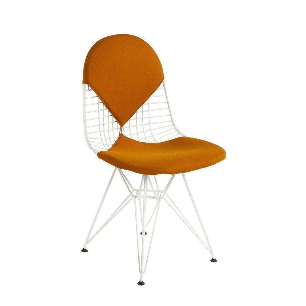 Mid-Century Modern Reproduction Bikini Wire Chair - Orange Inspired by Charles and Ray E.