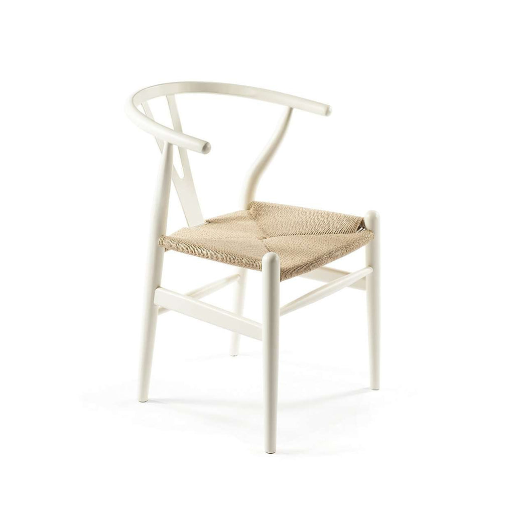 Wegner CH24 Wishbone Chair White FEC1527WHITE