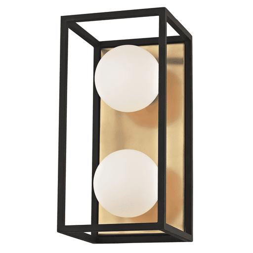 Aira 2 Light Bath Bracket - Aged Brass/Black