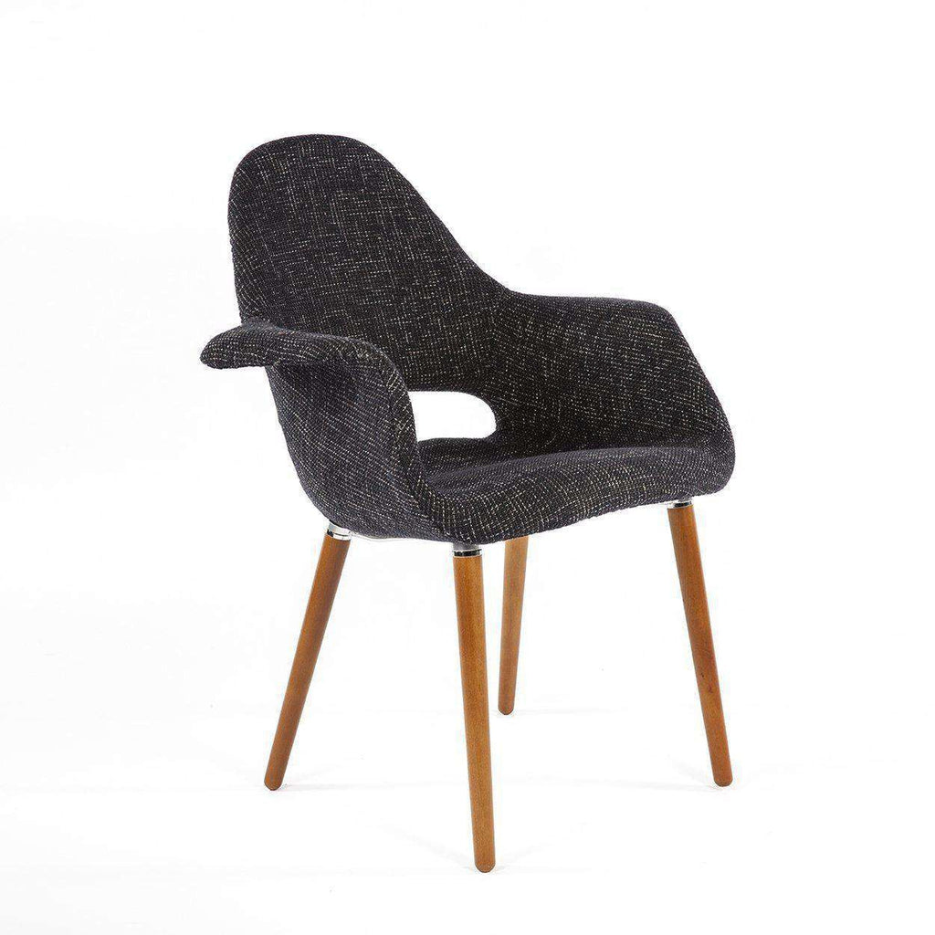 Mid-Century Modern Reproduction Organic Chair - Black Twill Inspired by Charles and Ray E. and Eero Saarinen