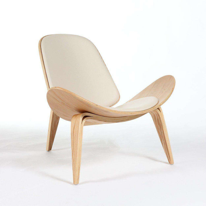 Mid-Century Modern Reproduction CH07 Shell Chair - White Inspired by Hans Wegner