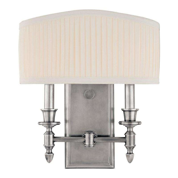 Bridgehampton 2 Light Wall Sconce Polished Nickel