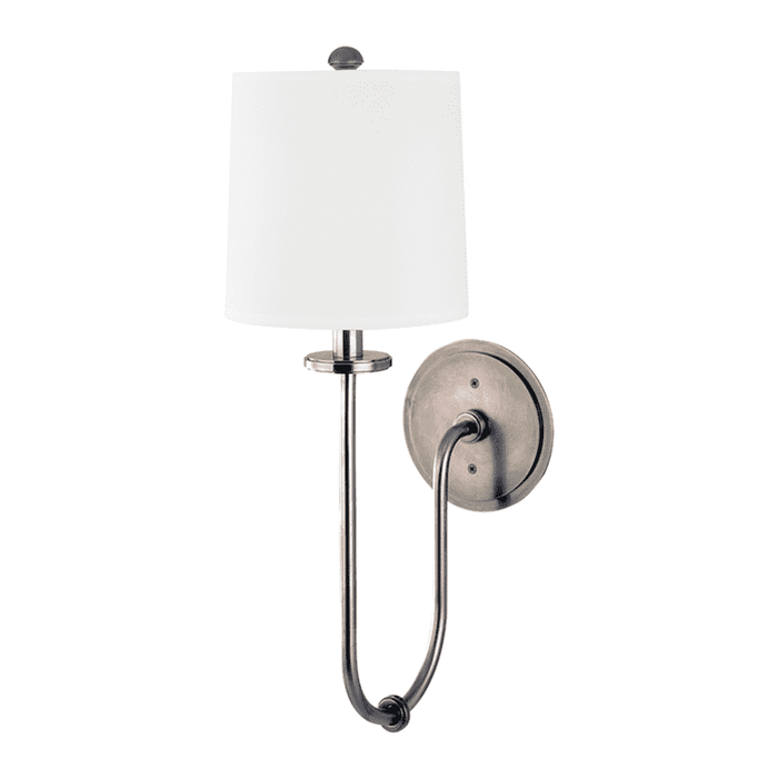 Jericho 1 Light Wall Sconce Historic Nickel