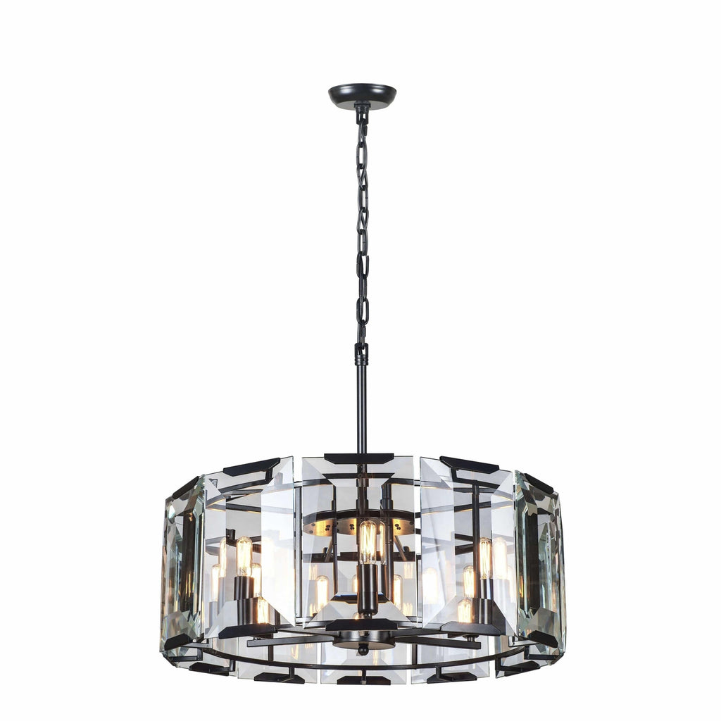1211 Monaco Collection Pendant Lamp Flat Black (Matte) Finish