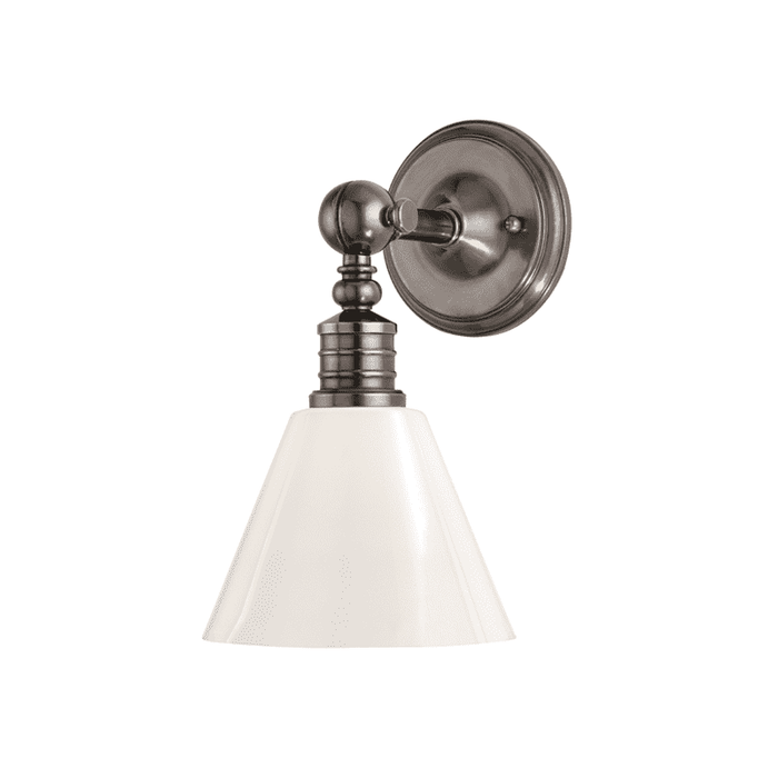 Darien 1 Light Wall Sconce Historic Nickel