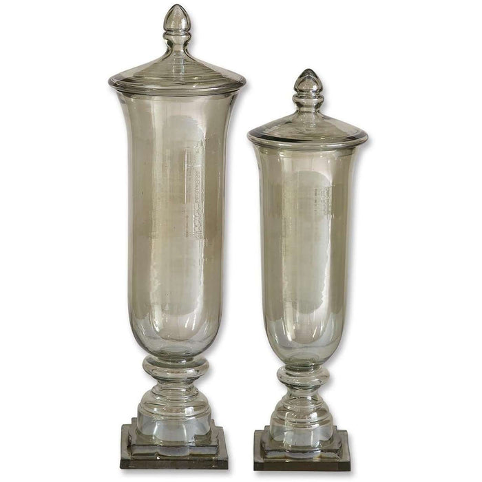 Uttermost Gilli Glass Decorative Containers, Set/2