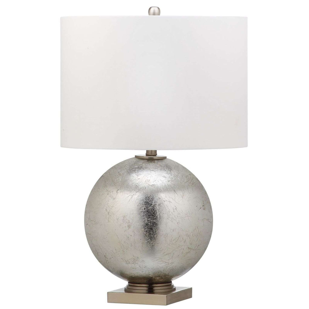 "27""H Silver Leaf Glass Ball Table Lamp"