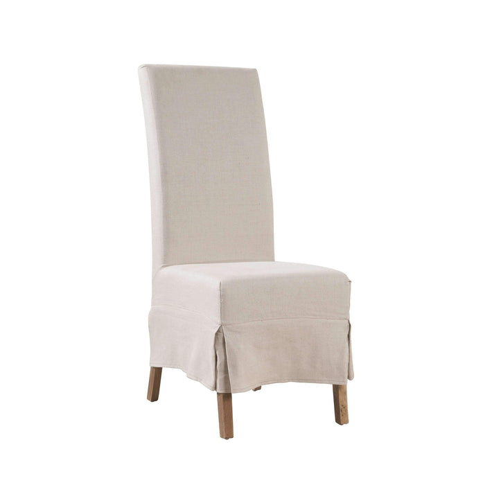 Linen Slip Covered Parsons Chair (Set of two)