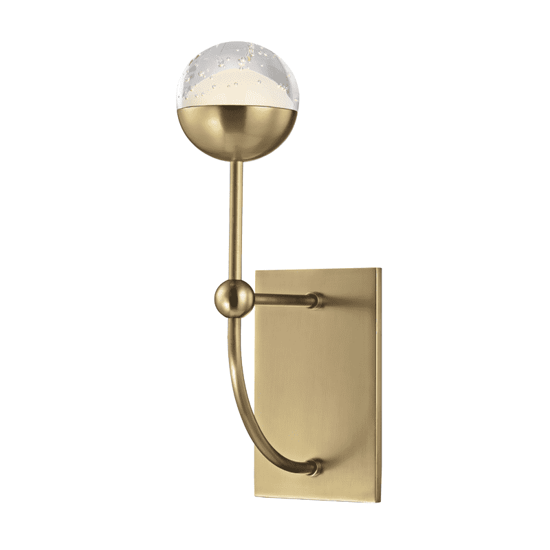 Boca 1 Light Led Wall Sconce Aged Brass