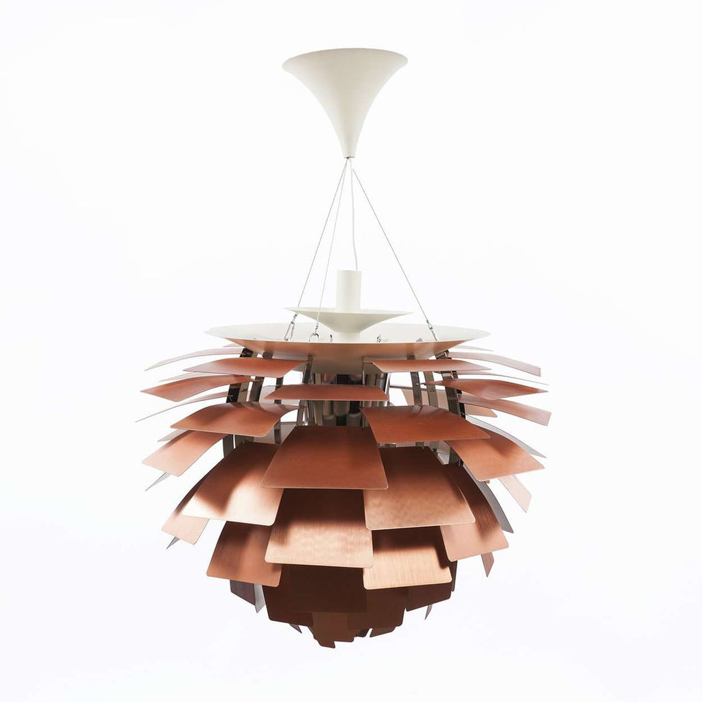 Mid-Century Modern Reproduction PH Artichoke Lamp - Copper - 28 Dia Inspired by Poul Henningsen