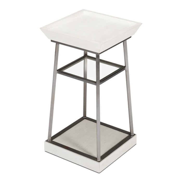 Hank Country Drink Table, Working White