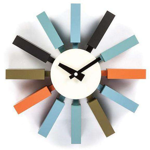 Mid-Century Modern Reproduction Block Clock - Color Inspired by George Nelson