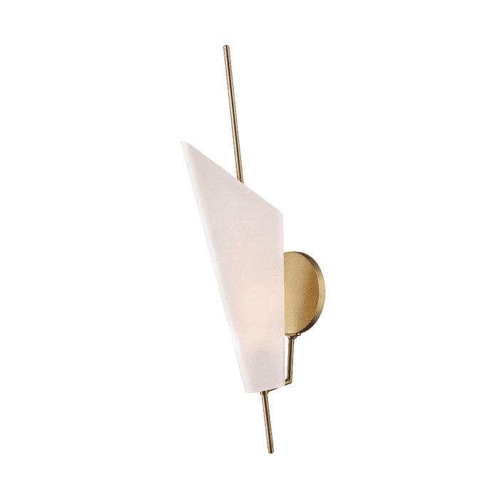 Cooper 2 Light Wall Sconce Aged Brass