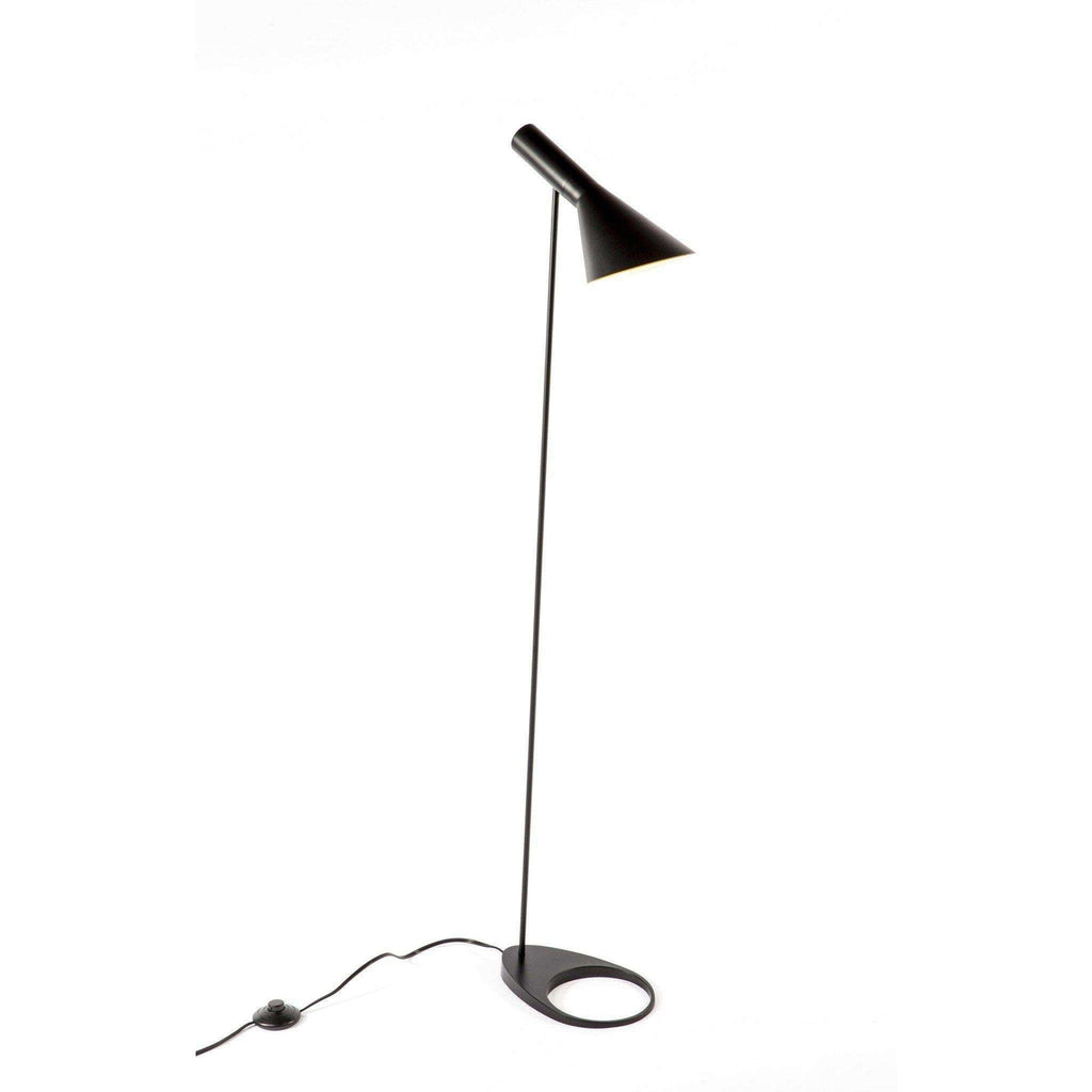 Mid-Century Modern Reproduction AJ Floor Lamp - Black Inspired by Arne Jacobsen