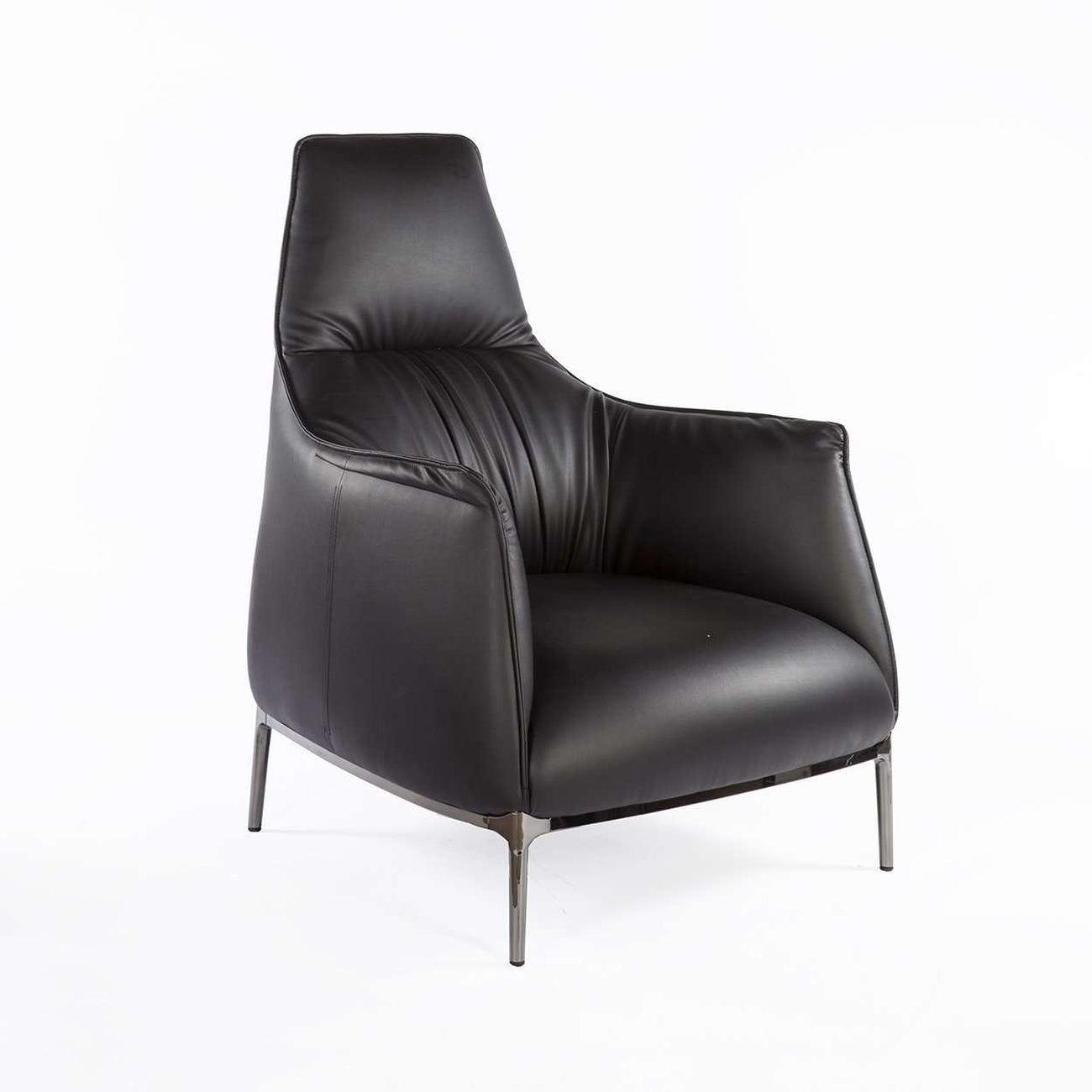 Archibald A Highback Lounge Chair   Black