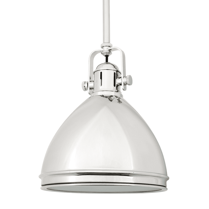 Marion 1 Light Pendant Polished Nickel
