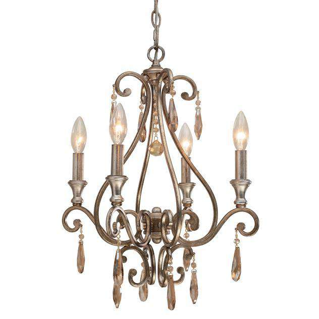 Shelby 4 Light Golden Shadow Crystal Mini Chandelier