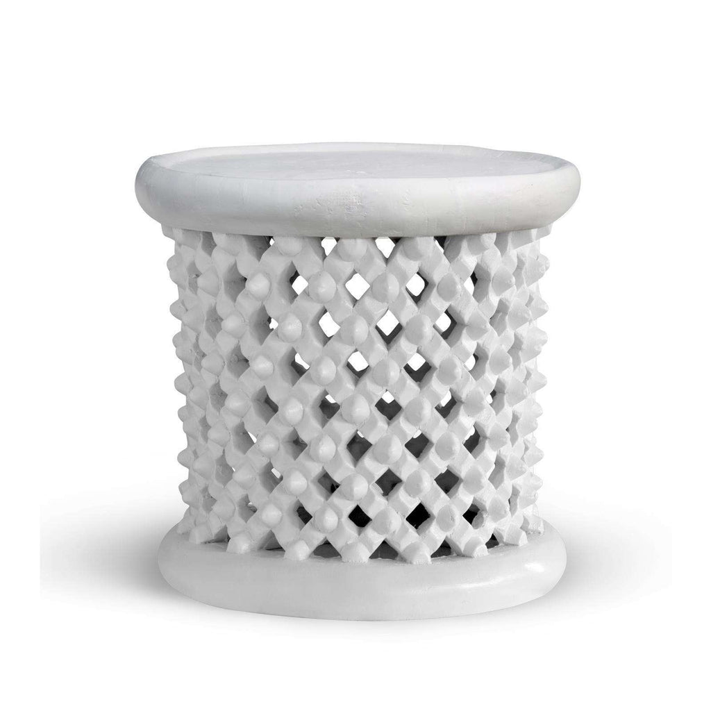 BUNGALOW 5 - KANO STOOL/SIDE TABLE WHITE - BUNGALOW-KAN-500-09