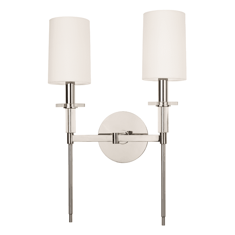 Amherst 2 Light Wall Sconce Polished Nickel