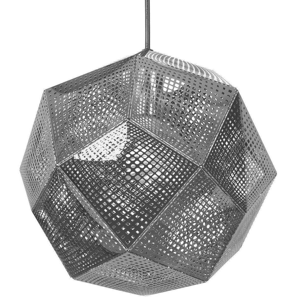 Mid-Century Modern Reproduction Etch Shade Stainless Steel Pendant Inspired by Tom Dixon