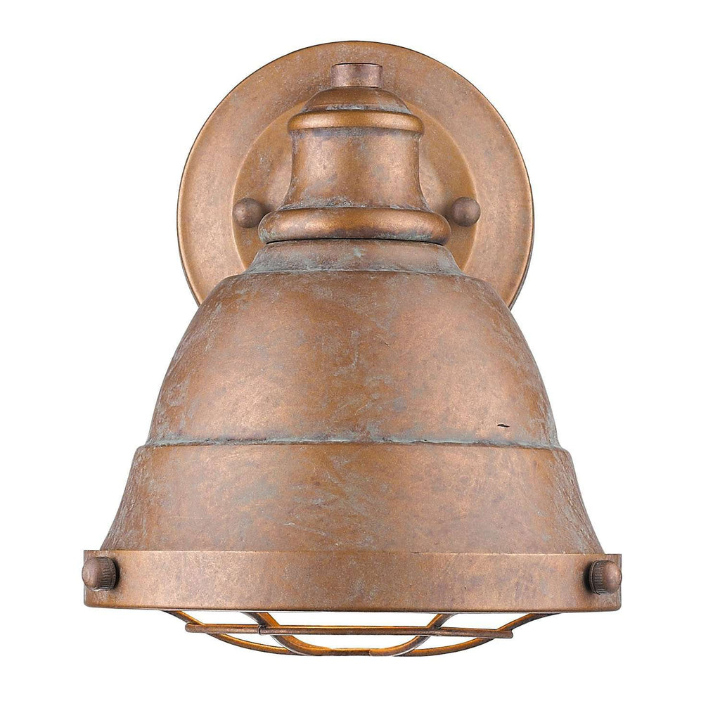Bartlett CP 1 Light Bath Vanity Copper Patina