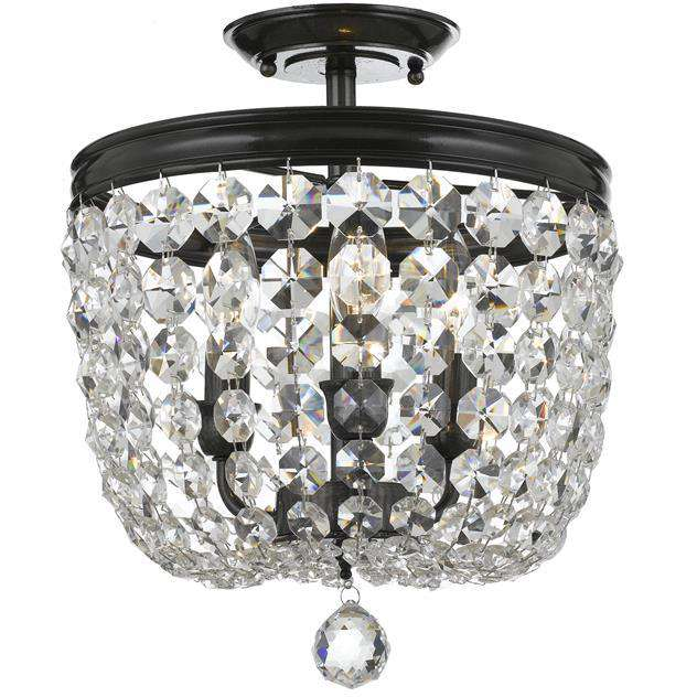 Archer 3 Light Crystal Ceiling Mount