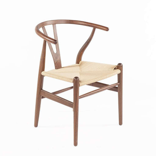 Mid-Century Modern Reproduction CH24 Wishbone Y Chair - Solid Walnut Inspired by Hans Wegner