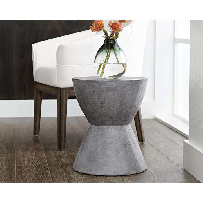 LOGAN END TABLE - ANTHRACITE  GREY