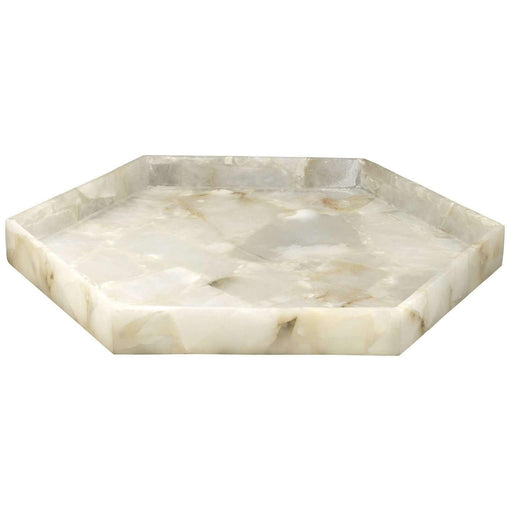 Antonia Large Tray in Alabaster