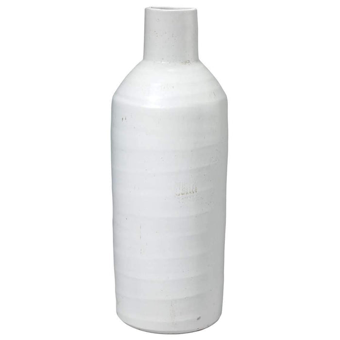 Dimple Carafe in Matte White Ceramic