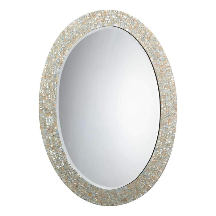 Large Oval Mirror in Mother of Pearl