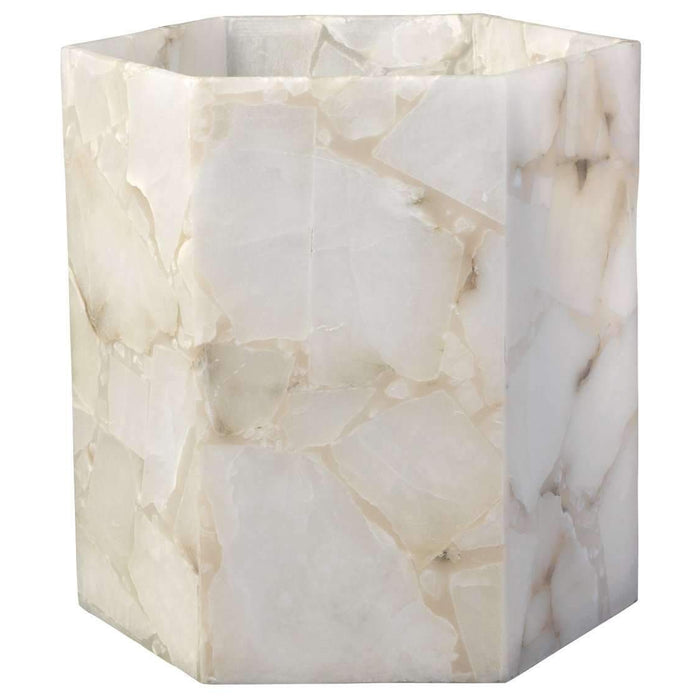 Savannah Large Hexagon Hurricane in Alabaster