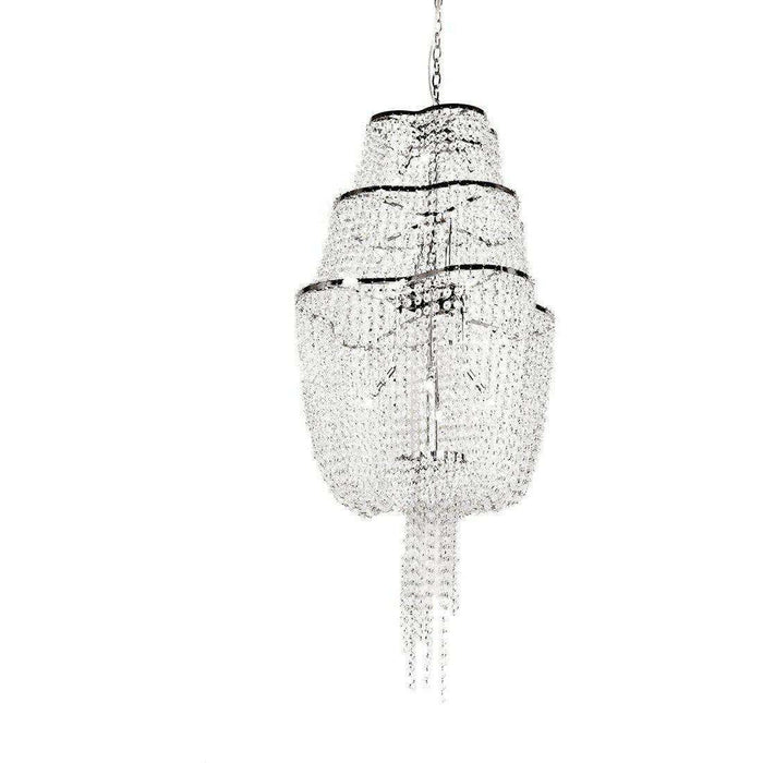 Modern Liam Tiered Crystal Chandelier
