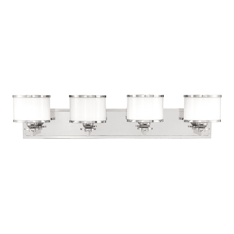 Basking Ridge 4 Light Bath Bracket Polished Nickel