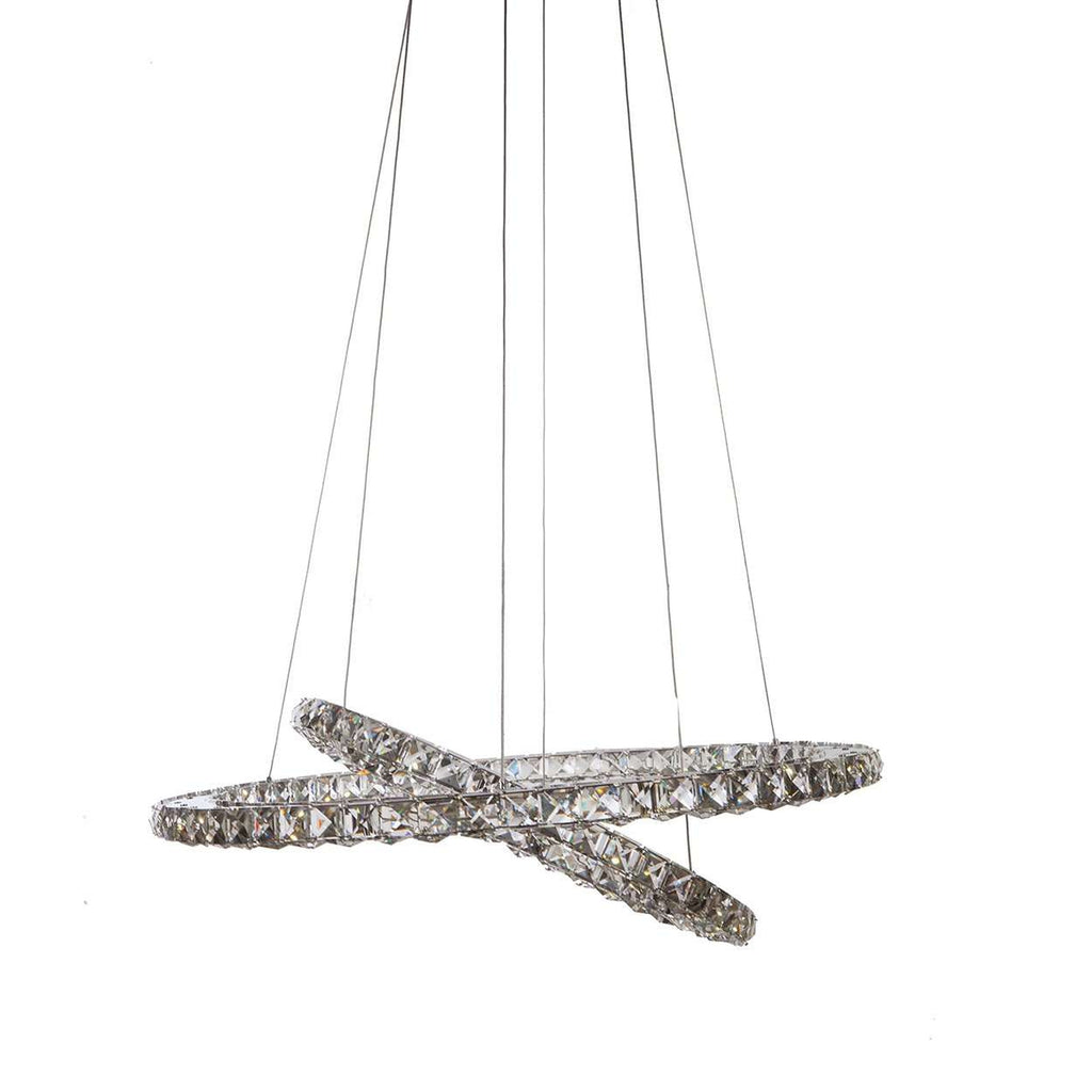 Modern Intersecting Ring of Fire Chandelier