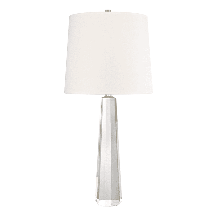 Taylor 1 Light Table Lamp With Crys Polished Nickel