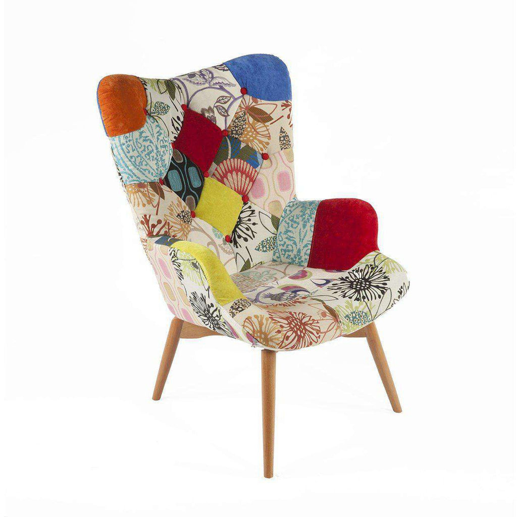 Mid century modern reproduction contour lounge chair patchwork f inspired by grant featherston