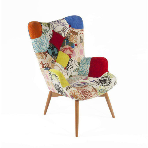 Mid-Century Modern Reproduction Contour Lounge Chair - Patchwork F Inspired by Grant Featherston