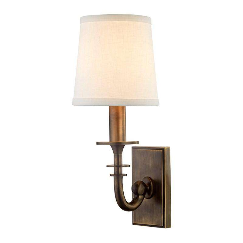 Carroll 1 Light Wall Sconce Distressed Bronze