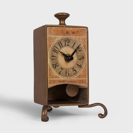 Vintage Brass Pendulum Table Clock [50gift]